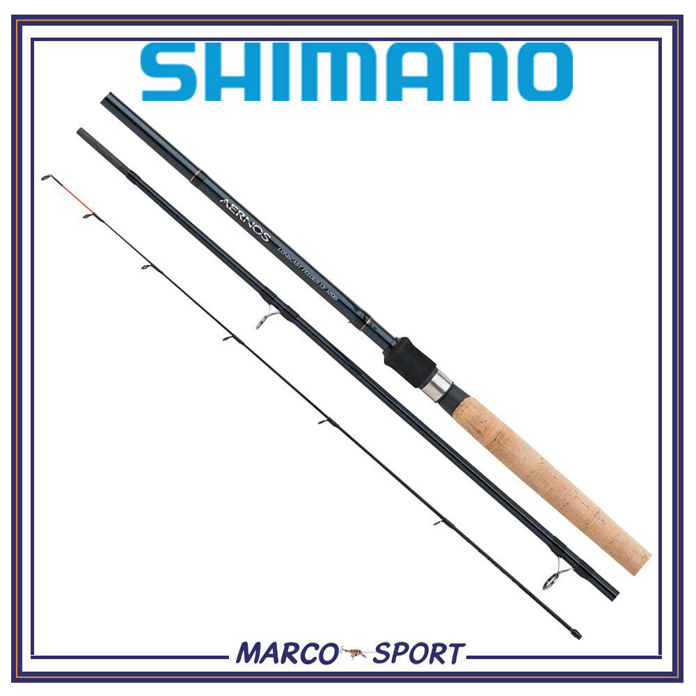Canna da pesca in carbonio Shimano Aernos Long Cast Feeder ledgering 3 pezzi
