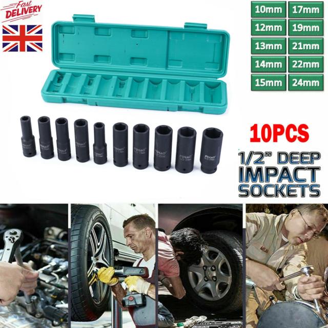 "12PT 545624P 24mm 1//2/"" Dr Long Impact Socket 12 Point Heavy Duty 78mm Length"