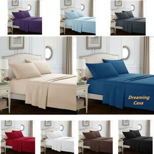 Dreaming Casa 1800 Count Deep Pocket Fitted Sheet Bed Sheet Set