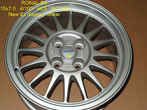 GENUINE-RONAL-R8-WHEEL-15-x-7-INCH-4-X-100-BMW-E30-VW-GOLF-ALLOY-RIM-MAG-SPARE