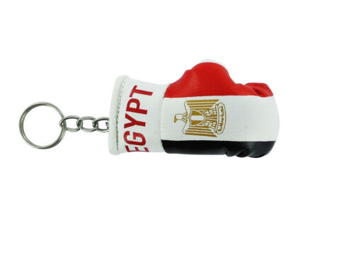 Keychain Mini boxing gloves key chain ring flag key ring cute Egypt Egyptian