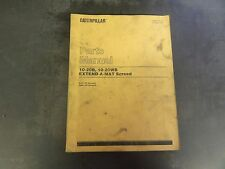 Caterpillar CAT 10-20B  10-20WB Extend-A-Mat Screed Parts Manual  2LN 2MN