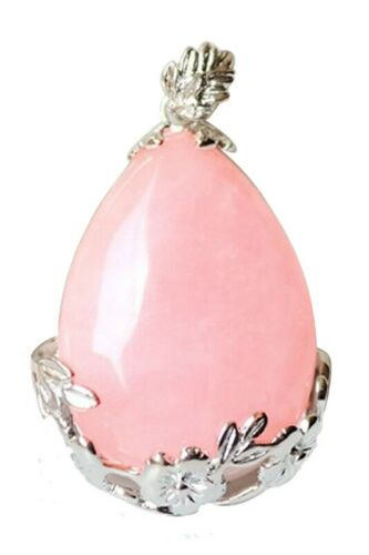 Ros Femmes Larmes d/'ange Goutte d/'eau Semi-precieux Pierres de gemme Pendentif