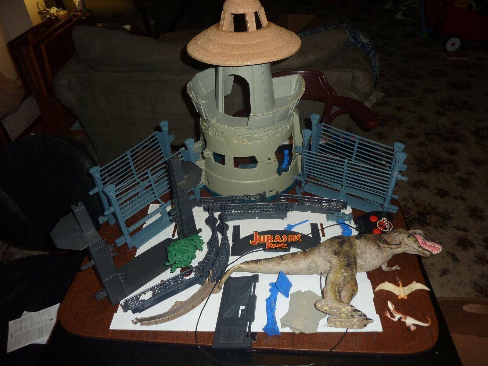Vintage Jurassic Park Command Compund Playset Kenner w T-Rex Dinosaurs Dinosaurs Dinosaurs Parts 3919d8