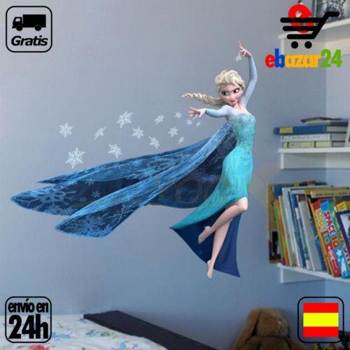 Vinilo decorativo Frozen Elsa Princesa Disney Habitacion Niña *Envío GRATIS desd