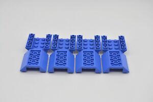 6 x Dachsteine negativ in Blau Lego Basic 2x3