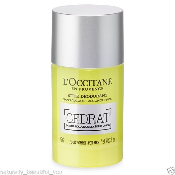 L'Occitane Cedrat Stick Deodorant 75g Alcohol Aluminium-free Natural Fresh Soft