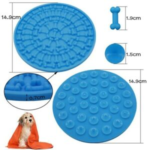 15cm-Round-Silicone-Dog-Puppy-Lickimat-Lick-Mat-Soother-Treat-Boredom-Pets-Dogs