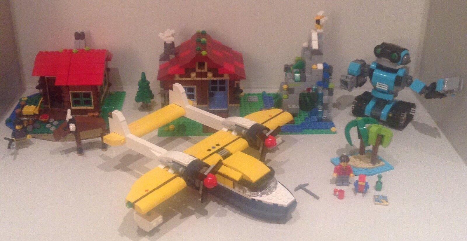 Lego Creator 3 in 1 bundle Lakeside Lodge Mountain Hut Island Robo Explorer