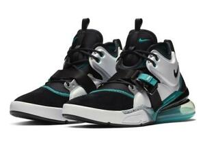 classic fit 212d6 a9d0b Details about NIKE AIR FORCE 270 AH6772 008 BLACK/WHITE/WOLF GREY/BLUE  EMERALD TURQUOISE