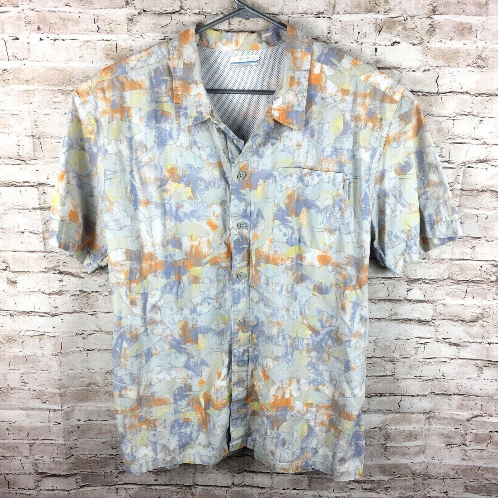 Columbia PFG Mens XL Multi-color Vented Pro Fishing Shirt
