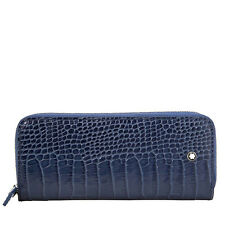 Montblanc Meisterstuck Embossed Leather 2 Pen Pouch - Indigo