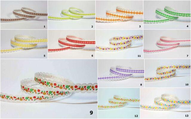 10yds~~10mm Acetate Ribbon 13 Colours U PICK