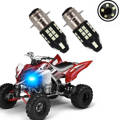 400 450 125 SUPER WHITE 80 Watt LED HEADLIGHTS BULBS 350 YAMAHA GRIZZLY 660