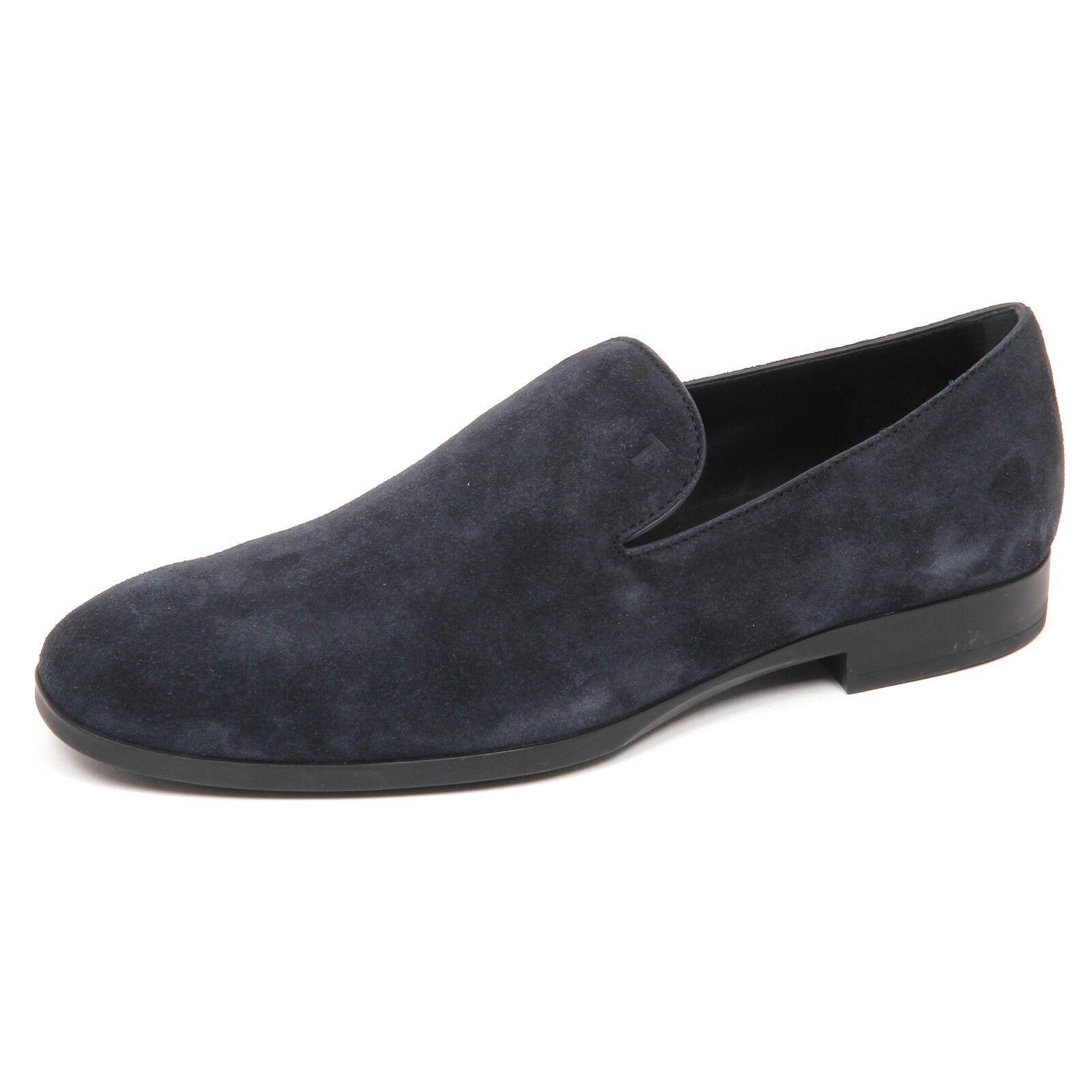 E2858 mocassino uomo blu TOD'S scarpe loafer shoe man