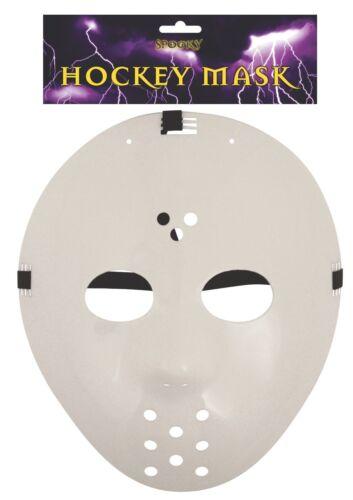 HALLOWEEN HOCKEY WHITE FACE MASK FANCY DRESS PARTY HORROS JASON FRIDAY 13TH