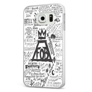 lowest price 532f1 b806e Details about Fall Out Boy Art Collage Sketch WHITE PHONE CASE COVER for  SAMSUNG GALAXY