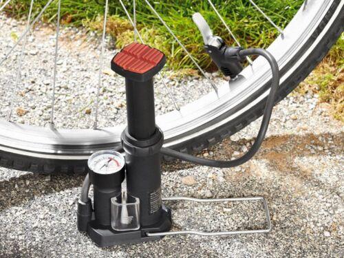 Ventile Mini Fahrrad Standluftpumpe Fußluftpumpe Pumpe Manometer Luftpumpe div