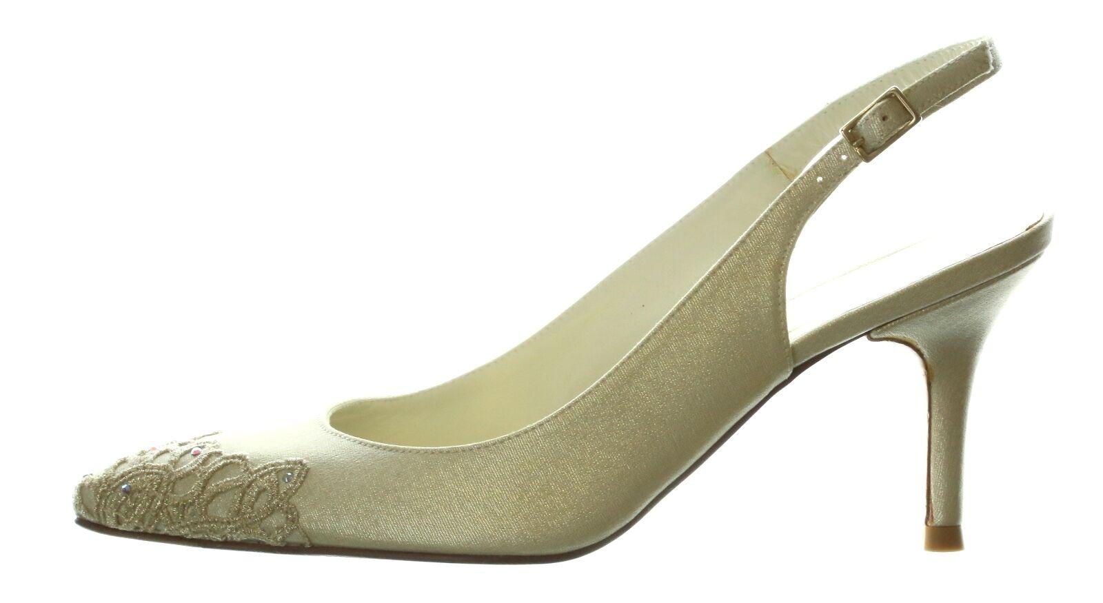 ampia selezione Stuart Weitzman 7215 oro Gloss Gloss Gloss Silk Moonlace Heels Sz 6  con il prezzo economico per ottenere la migliore marca