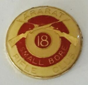 Ararat-Small-Bore-Rifle-Club-18-Gun-Target-Pin-Badge-Rare-Vintage-No-Clasp-R10