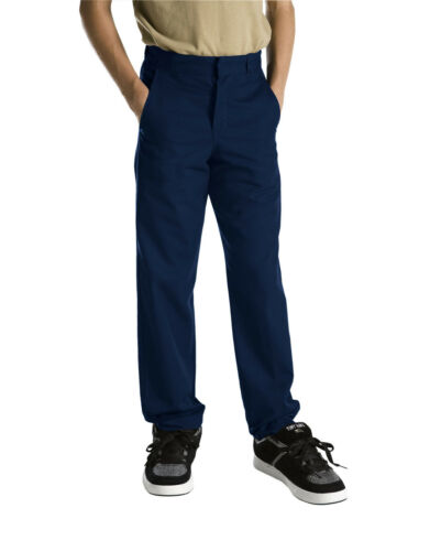 Dickies Boys Navy Pants Flat Front Classic Fit School Uniform Sizes 4 to 20
