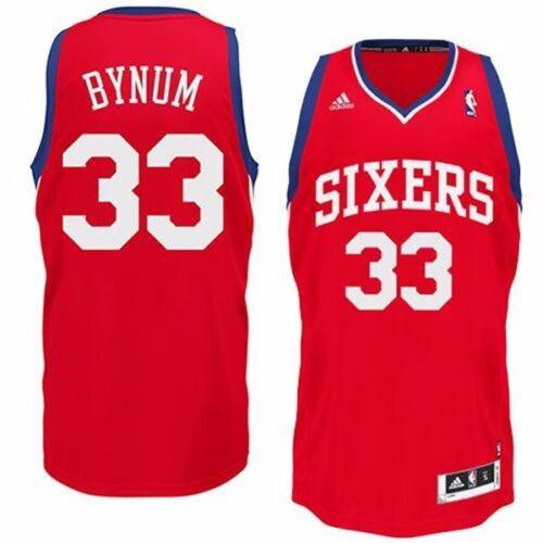 onkelz NBA Trikot PHILADELPHIA 76ERS SIXERS Bynum Jersey Revolution Swingman rot