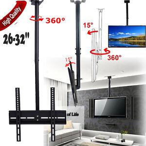 Ceiling-Wall-TV-Mount-Tilt-Bracket-VESA-26-27-28-30-32-LCD-LED-Black