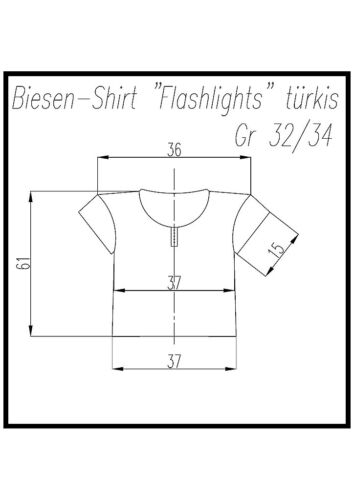 "Señora-biesenshirt /""Flashlights/"" turquesa talla 32-42"