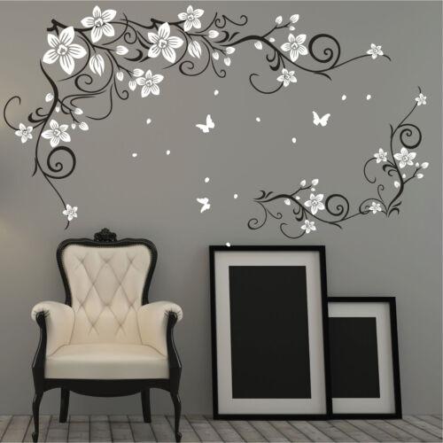 Farfalla Vite Fiore Adesivi In Vinile Muro Parete Arte,Da Muro Decalcomania,