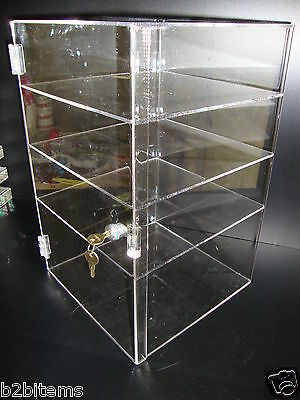 Acrylic CUPCAKE Showcase Stand Pastry Bakery Counter Display w/door & lock New