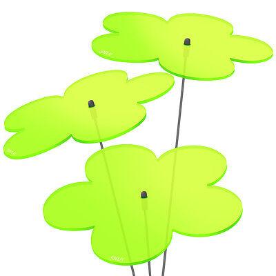 3 Stück SUNPLAY Sonnenfänger Ø5cm Suncatcher Gartenstecker Blumen GRÜN