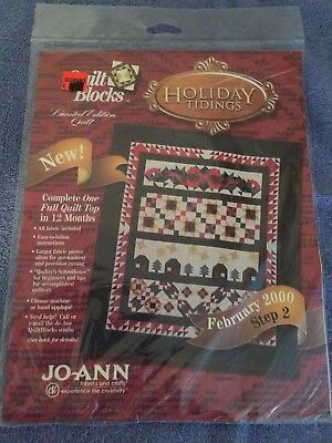 February 2000 Quilt Block Step 2 Holiday Tidings