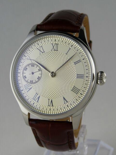 Montre mécanique cadran guilloché Seagull type UNITAS 6497 watch NEUVE