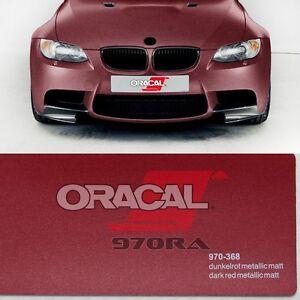 15-10-m-Oracal-970ra-rojo-oscuro-mate-Metalico-368-Pelicula-Auto-Modelado