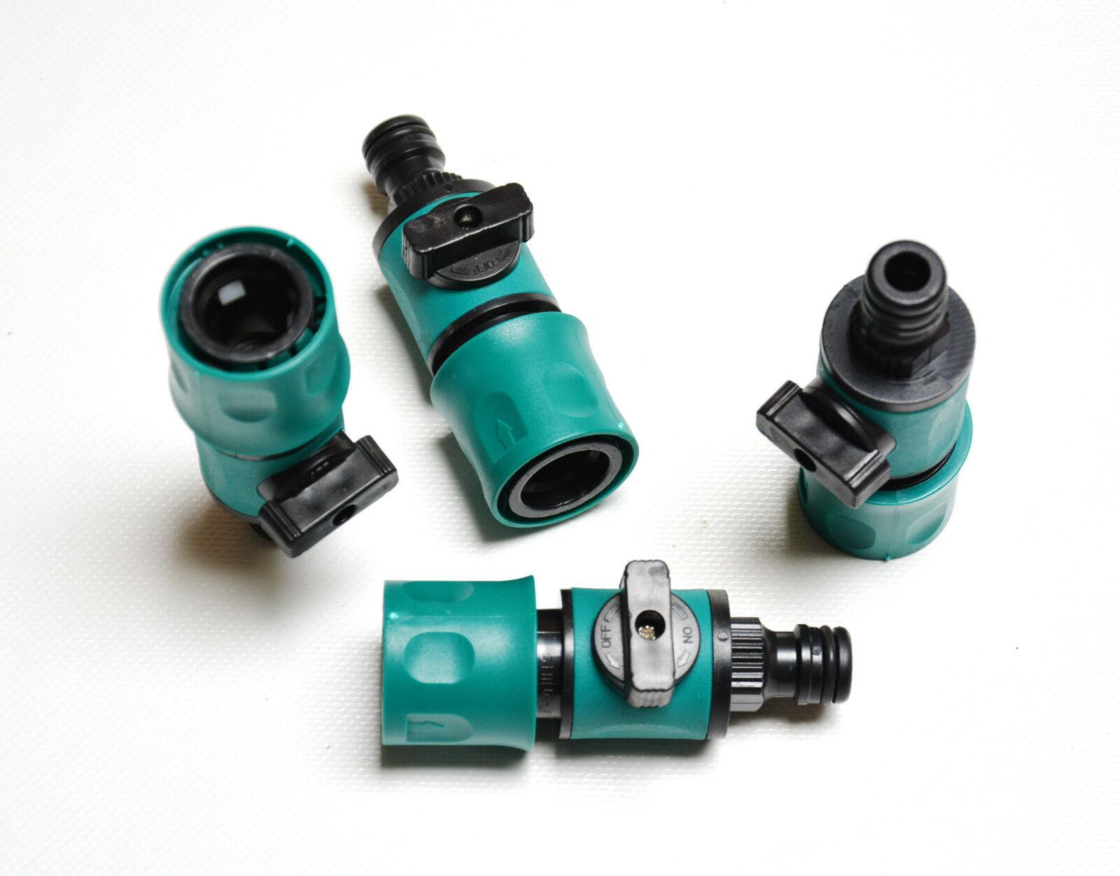 Wasserstopper 4 Stck Wasserregler Durchflussregler 1//2 Zoll Schlauchverbinder