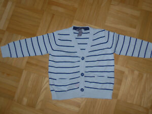 Details zu Cardigan Strickjacke Jacke Baby Junge H&M Gr. 86 hellblau gestreift TOP