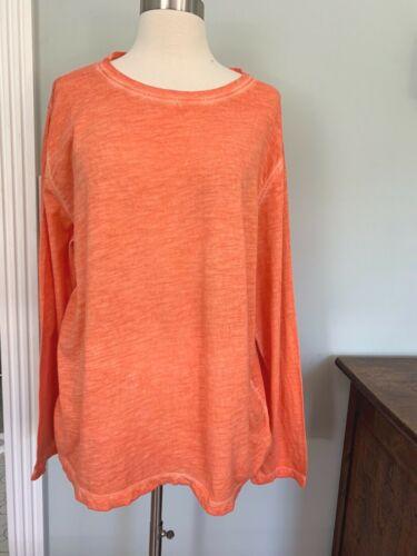 Eileen Fisher ~ Orange ~ 100% Organic Cotton  ~ T