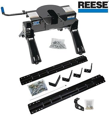 Reese 30132 20K Pro Series Fifth Wheel Hitch with 4-Bolt Rail Kit