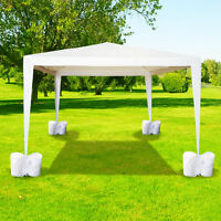 4Pcs-Pack Canopy Weights Bag Leg Weights for Pop up Canopy Tent Sand Bag White