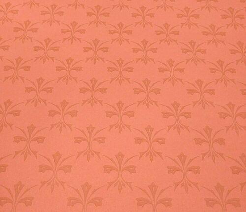 Vintage Wallpaper Fleur de Lis Victorian Dark Salmon Color by Hodsoll McKenize