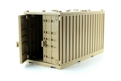 compatible with toy brick building blocks Tan Cargo Shipping Container W305