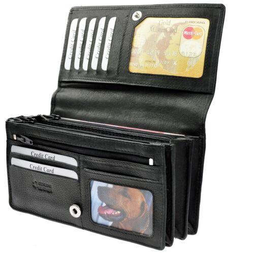 Chawki Amari XXL Porte-monnaie avec RFID-Safe Nappaleder Porte-monnaie Sac//6130a-r