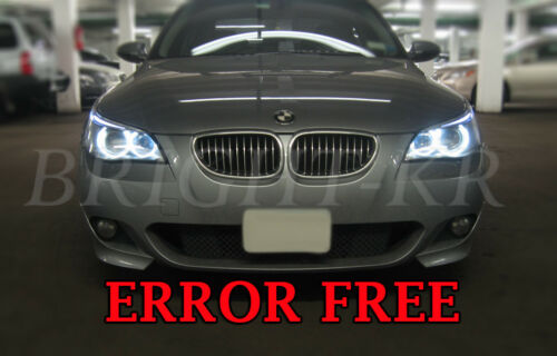 BMW 5 SERIES E60 E61 PRE-LCI ANGEL EYE HALO RING LIGHT LED BULBS- PURE WHITE