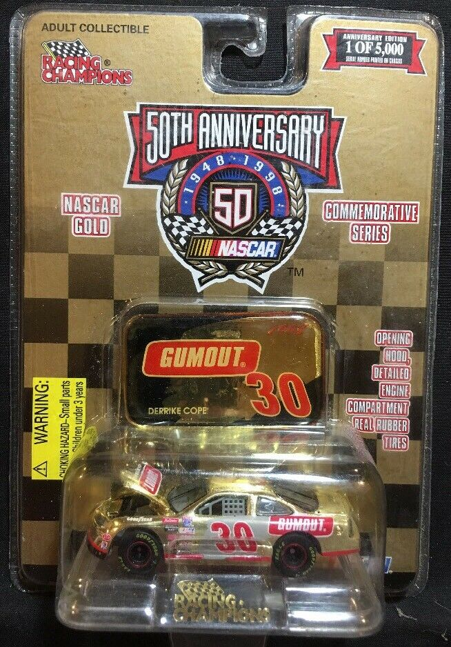 Racing Champions Nascar gold Derrike Cope 1 64 Diecast New 1998