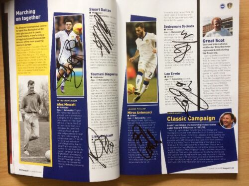 Multi Signed 16 Leeds United Away Programme, 29th February 2016