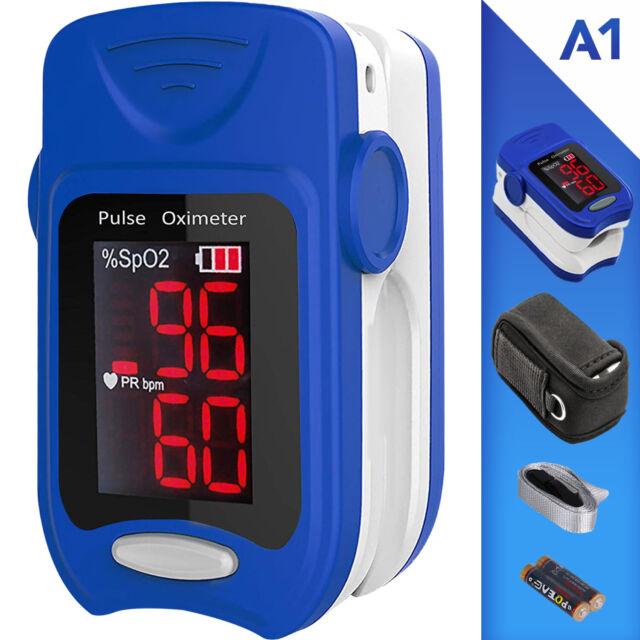 Pulsossimetro da dito professionale con display LED - saturimetro ossimetro