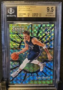 2019-20-Panini-Mosaic-Center-Stage-17-Luka-Doncic-bgs-9-5-Gem-Mint