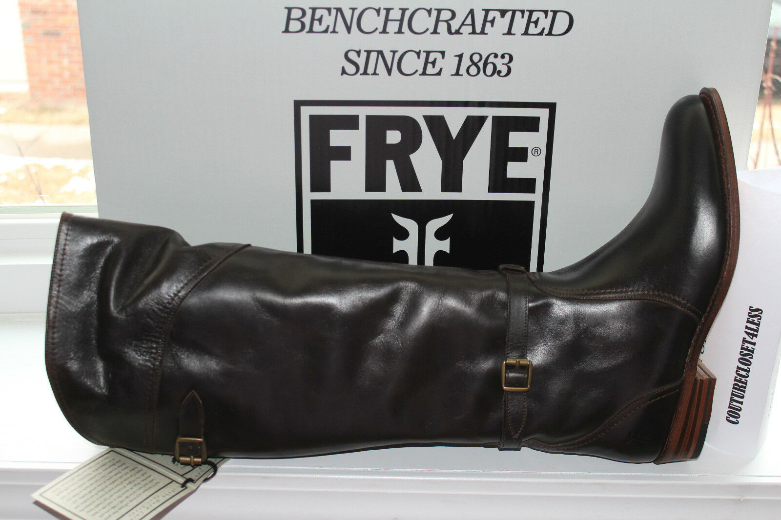 FRYE DORADO RIDING DARK BROWN LEATHER  7us  500
