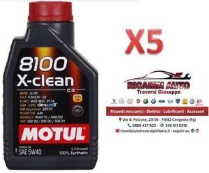 5-Litri-Motul-8100-X-Clean-5W40-Olio-Motore-100-Sintetico-ACEA-C3-API-SN-CF