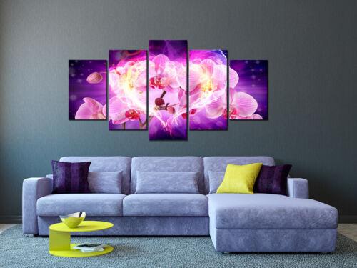BLUMEN ORCHIDEE ABSTRAKT Wandbilder xxl Bilder auf Vlies Leinwand 030110-37